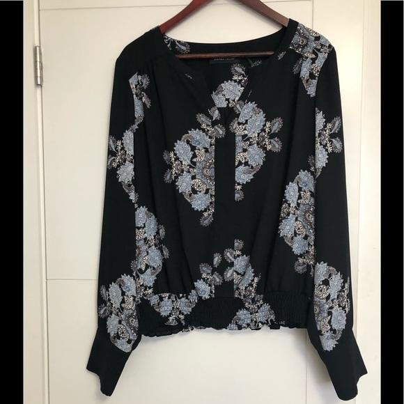 IVANKA TRUMP/Ladies/Black & Blue/XL/Blouse